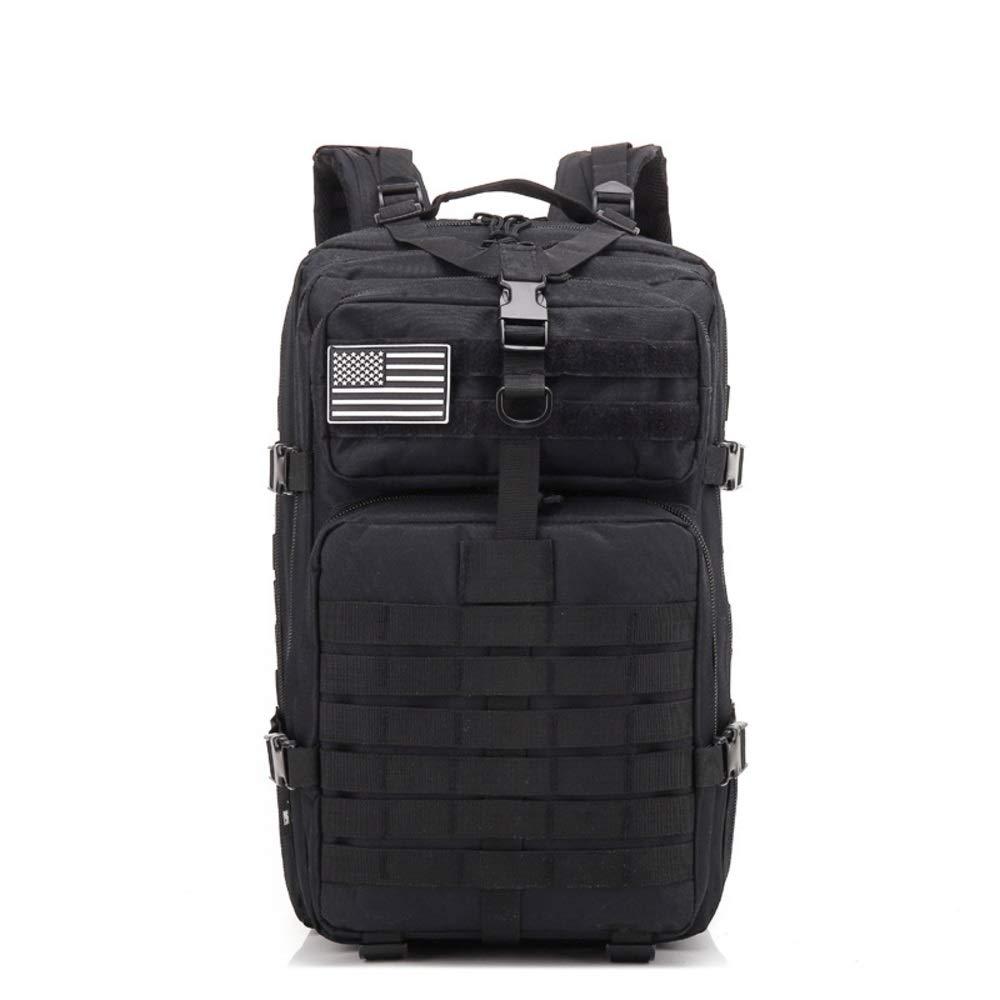 Goen Burake 大容量の屋外の戦術的なバックパックの迷彩のバックパックの迷彩袋のスポーツの屋外 (Color : ブラック)  ブラック B07Q3DJ6WQ