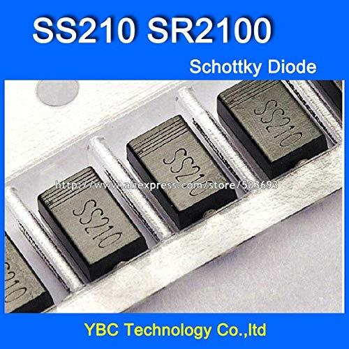 MAO YEYE 500pcs/lot SS210 SR2100 2A/100V A Type Schottky Diode