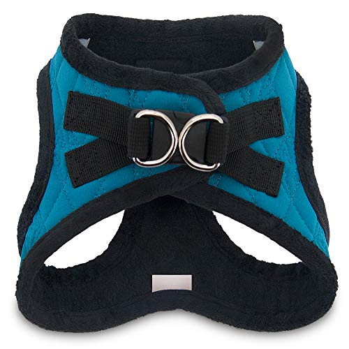Product image of Voyager by Best Pet Supplies -  Step-in Plush Dog Harness with Padded Vest , (Turquoise Plush, X-Large)