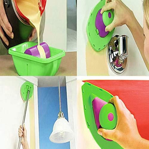 2 unids//par F/ácil Pintura Esponja Reemplazo Hogar Pintura de Pared Herramienta Decorativa Accesorio de Piezas para Punto y pintura