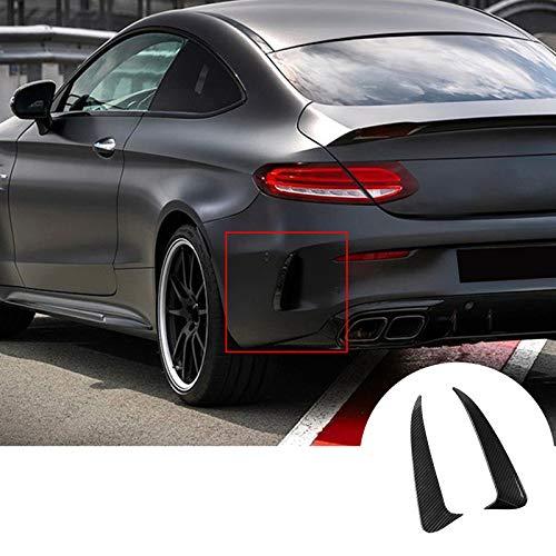 HOTRIMWORLD Carbon Fiber Style Rear Bumper Spoiler Air Vent Outlet Trim Cover for Mercedes-Benz C Class Coupe C205 2015-2019