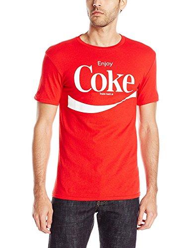 Jim Beam Halloween Costume (Coca Cola Men's Enjoy Coke T-Shirt, Red,)