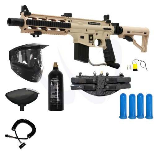 (Tippmann US Army Project Salvo Paintball Gun Prime Package - Tan)