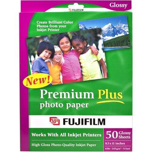 FujiFilm Inkjet Premium Plus Paper Glossy 8.5 x 11 (50)