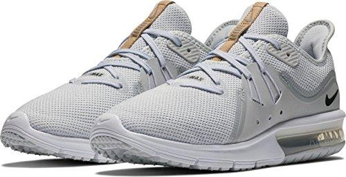 Nike Womens Air Max Sequent 3 Scarpa Da Corsa Puro Platino / Nero-bianco