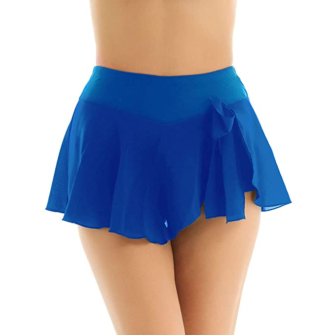 ranrann Chifón Falda de Patinaje Artístico para Mujer Falda ...