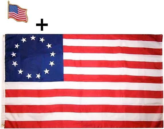 USA SELLER Betsy Ross Polyester Flag 3x5FT American Revolution Patriotic 13 Star