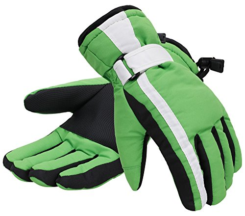 Women 3M Thinsulate Lined Waterproof Snowboard / Ski Gloves,M,Green (Snowboard Gloves Green)
