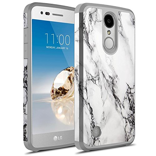 Rosebono Case For LG Aristo 3/LG Phoenix 4/Zone 4/Aristo 2/Aristo Plus/K8+/Tribute Empire/Rebel 4/Rebel 3 LTE/Rebel 2 LTE/Tribute Dynasty/Aristo/Phoenix 3/K8 2017/Fortune/Risio 2 (White)