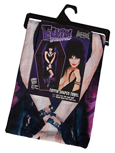 Kreepsville Official Elvira Mistress of The Dark Coffin Beach Towel -