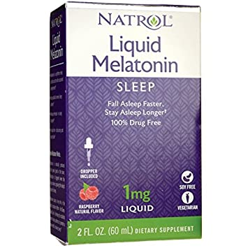 Natrol Melatonin 1 mg Liquid 2 oz (Pack of 4)