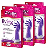 Playtex Living Reuseable Rubber Cleaning Gloves (Medium, Pack - 3)