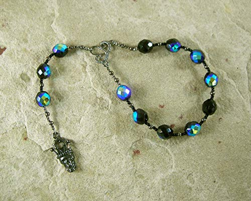 Hel (Hella) Pocket Prayer Beads: Norse Goddess of Death, Ruler of the - Goddess Prayer Beads