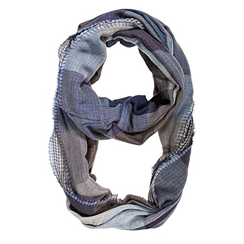 J Goodin Blue Spencer Plaid Infinity Scarf from JGOODIN