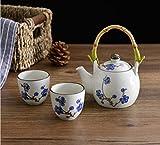 Japanese Style Artificially-Painted (underglaze) Porcelain tea set (Plum Blossom)