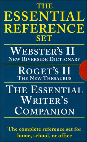 - Houghton Mifflin Essential Desk Reference Set, Paperback, 3-Book Set (0618952373)