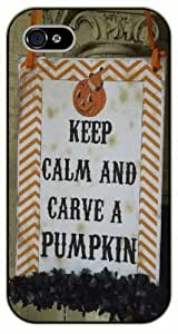 iPhone 5C Keep calm and carve a pumpkin - black plastic case / Keep calm, funny, quotes, halloween