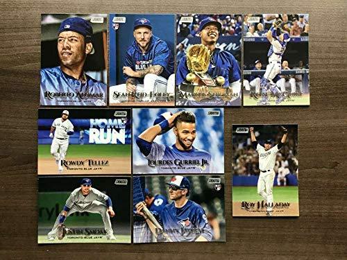 (2019 Topps Stadium Club Baseball Toronto Blue Jays Team Set (No SP Vlad) of 9 Cards: Roy Halladay(#206), Marcus Stroman(#218), Danny Jansen(#221), Reese McGuire(#230), Lourdes Gurriel Jr.(#232), Justin Smoak(#237), Sean Reid-Foley(#254), Roberto Alomar(#258), Rowdy Tellez(#293))