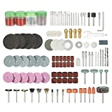 Walmeck 166PCS 1/8'' Shank Rotary Tool Accessories Set Sanding Polishing Grinding Cutting Accessory Bit for Dremel Grinder
