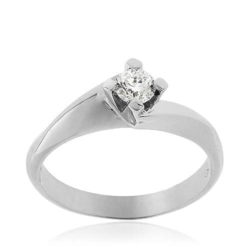 codice promozionale 7188e 0d066 Gioiello Italiano - Solitario in oro bianco 18kt e diamante ...