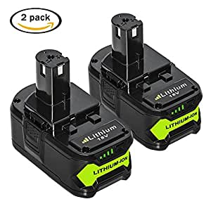 Libatter 2 Pack 18v 5000mAh Lithium Battery Rechargeable Replacement for Ryobi P104 P108 P105 P102 P103 P107 Cordless Power Tools
