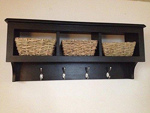 Cubby Shelf with Coat Hooks