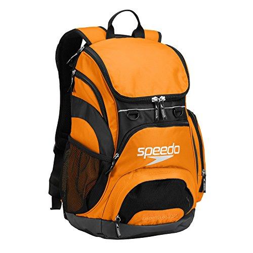 Speedo Large Teamster Backpack, Bright Marigold/Black, 35-Liter