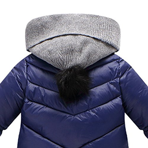 Snowsuit Infant Cherry Outerwear Thick Coat Happy Romper Winter Jumpsuit Baby Hooded Blue Newborn dIwdtUq