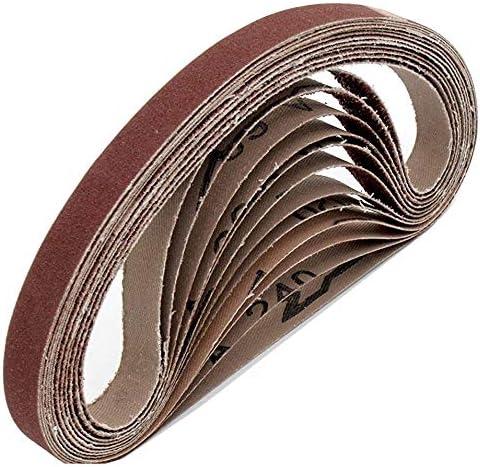 Fabric Sanding Belts │ 96 Pieces │ 13 x 451 mm │ 16 x 40//60//80//120//180//240 │ Compatible with Black/&Decker/® Power File │ Sandpaper │ Sanding Belt Mix Pack