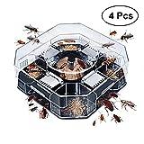 BESTONZON 4PCS Roach Trap Killers Reusable Cockroach Bait Trap Killers Safe Eco-Friendly for Kids and Pet