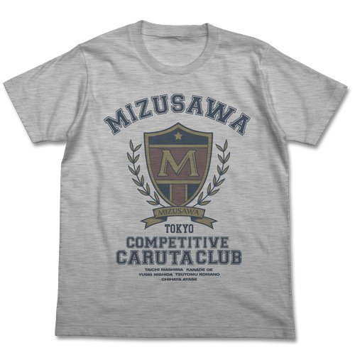 ちはやふる 瑞沢高校 競技かるた部Tシャツ ヘザーグレー サイズ:M