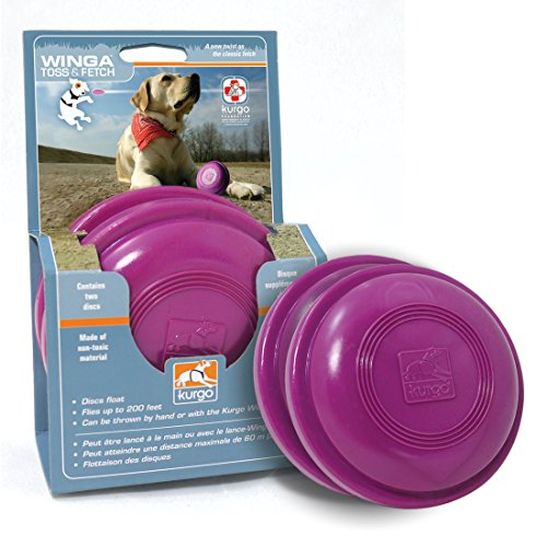 Kurgo Extra Discs for Winga(TM) Thrower Dog Toy, 2 Discs by Kurgo