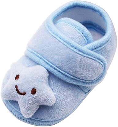0-12M Infant Baby Girl Lace Flower Warm Ankle Socks Home Cotton Slipper Shoes UK