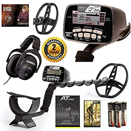 Amazon.com : Garrett AT Pro Metal Detector Coil Combo Hunters Package : Garden & Outdoor