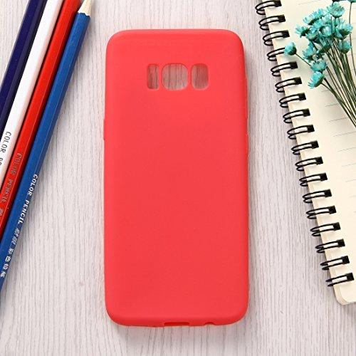 MXNET Samsung Galaxy S8 Caja, Lovely Candy colores suave TPU caso protector ,Funda Para Samsung Galaxy S8 ( Color : Black ) Red