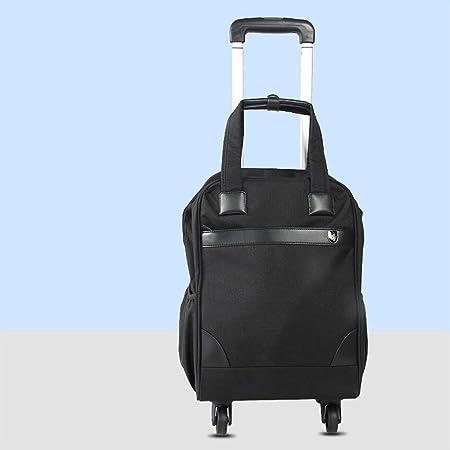 Compras, Cremallera Estuche de la Carretilla de Cuatro Ruedas Grandes de Almacenamiento Bolsa de la Compra Impermeable Bolsa de Viaje, (100x32cm) Lostgaming (Color : Black): Amazon.es: Hogar