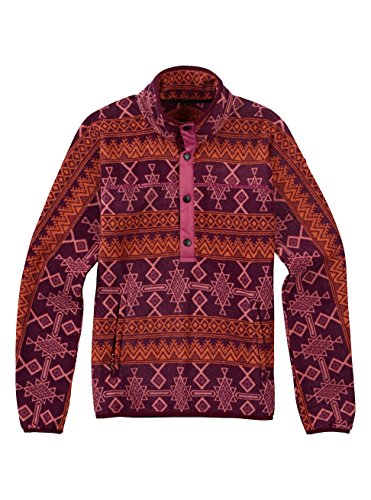 Burton Anouk Pullover Fleece, Starling Mojave, Large