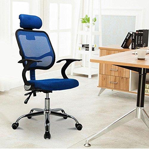 Popamazing Multicolor Swivel Stylish Fabric Mesh Office Furniture Excutive Desk Chair New (Style A, Blue)