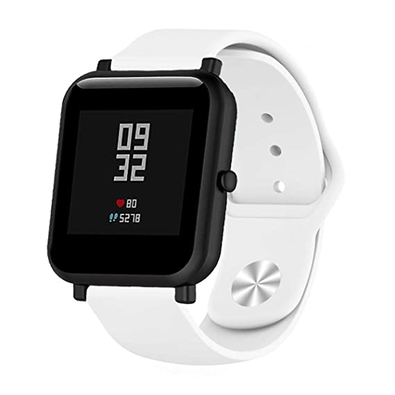 MLQSS 18mm 20mm 22mm Width Soft Silicone Smart Watch Bands,Quick Release Straps Compatible with Samsung Gear Sport,Adjustable Wrist Band for ...