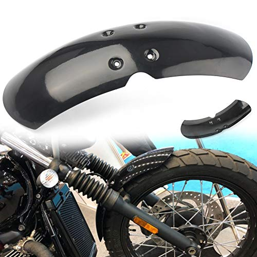 (GZYF Black ABS Motorcycle Short Front Fender Mudguard Compatible with 2001-2016 Triumph (Air Cooled) Bonneville / T100 / Scrambler / Thruxton 900)