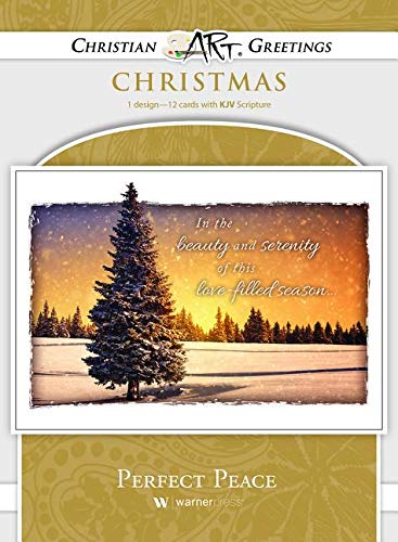 perfect peace boxed greeting cards christmas kjv scripture - Christmas Card Scripture