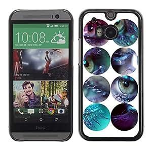 A-type Arte & diseño plástico duro Fundas Cover Cubre Hard Case Cover para All New HTC One (M8) ( Diseño ojos )