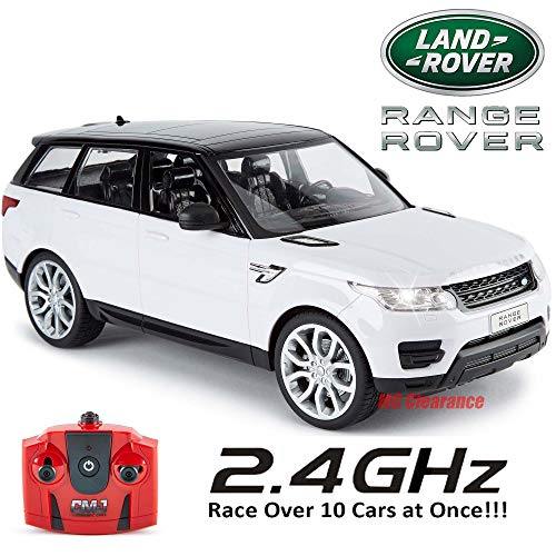 Range Rover Sports 2014 Remote Control Model 1:14 Scale 2.4Ghz Race Over 10 Cars at Once! - White ()