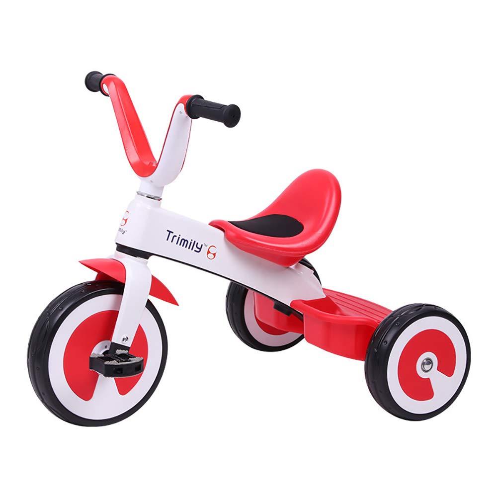 compras en linea rojo Triciclo Baby Baby Baby 1 Año, Ultraligero 2 en 1 Triciclo para Niños Asiento Ajustable +18 Meses Pedales para PadresAleacióN de Magnesio Triciclo de Empuje  calidad oficial