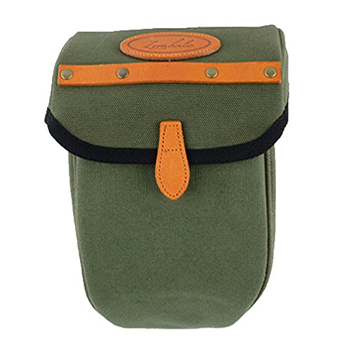 Surly Touring Bike - Zimbale Bicycle Waterproof Canvas Seat Pouch Bag - 2.3 Liter Capacity - 3.9 X 9.1 X 4.7 (inch) - Green