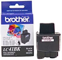 Brother LC41BK Ink Cartridge, 500 Page Yield, Black from Brother Printer