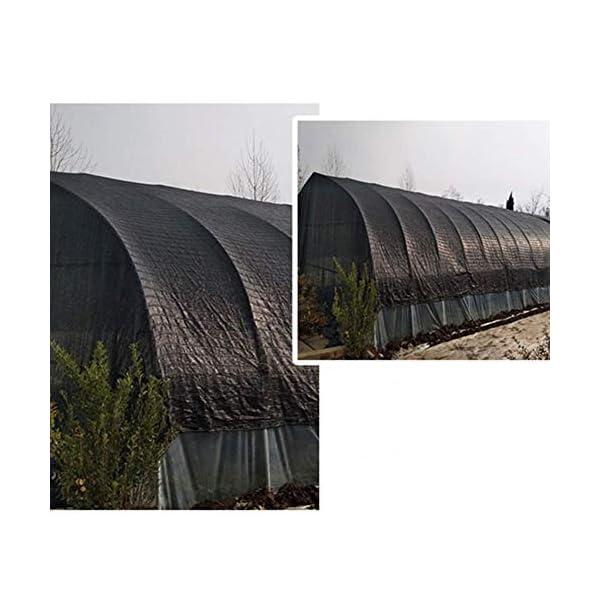 Giow - Telo protettivo per protezione solare in polietilene nero, 1 metro, 1 asola antipolvere, 21 misure (colore: nero… 2 spesavip