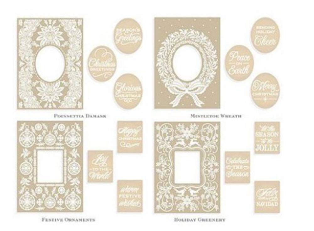 Anna Griffin NEW Mix & Match Christmas Cuttlebug Embossing Folders with Sentiments