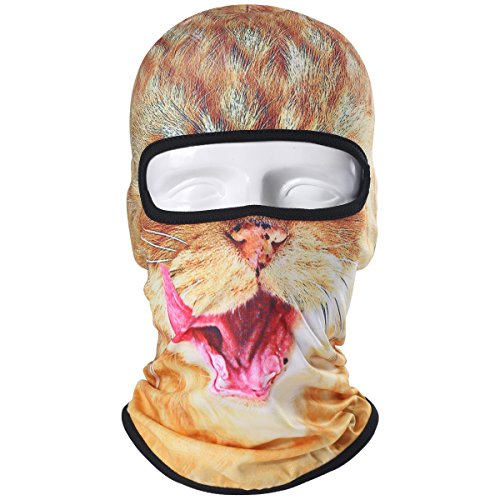 JIUSY Animal Balaclava Face Mask Breathable Speed Dry Outdoor Sports Riding Ski Head Cover Motorcycle Cycling UV Protection Helmet ()