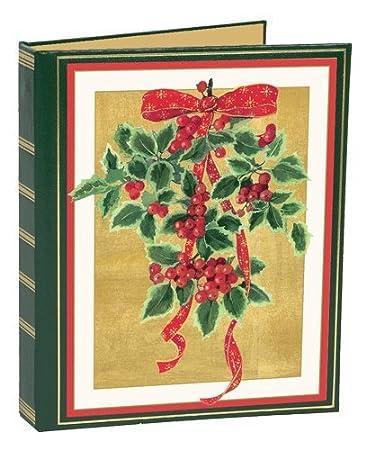 Amazon christmas card address book to organize greeting cards christmas card address book to organize greeting cards sent and received holly red ribbon m4hsunfo